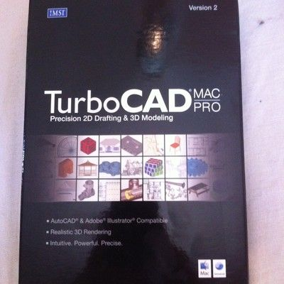 TURBO CAD SOFTWARE MAC PRO PRECSION 2D DRAFTING & 3 D MODELING $11.99