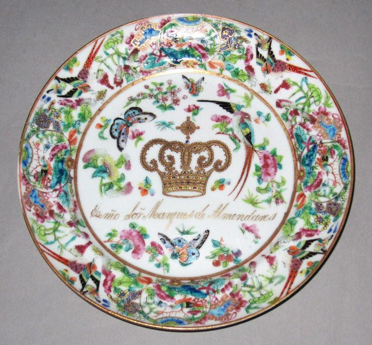 Desert plate, part of the set ordered by Ignacio Herrera, Marques de Almendares, Governor of Cuba, when elevated to the rank of marques, ca. 1843. Gift of Daniel and Serga Nadler 2014.16.189.1