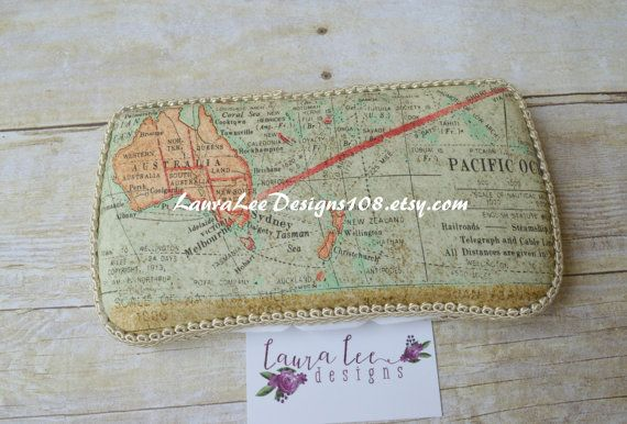 Vintage Wrold Map Travel Wipe Case Baby Wipe by LauraLeeDesigns108