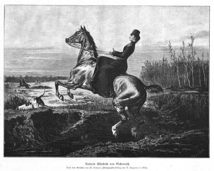 Sisi, Sissi, Kaiserin von Österreich, Fuchsjagd, Original-Holzstich von 1885   eBay
