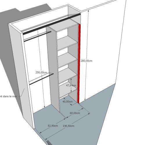 penderies en m lamin sur mesure studio koszalin. Black Bedroom Furniture Sets. Home Design Ideas