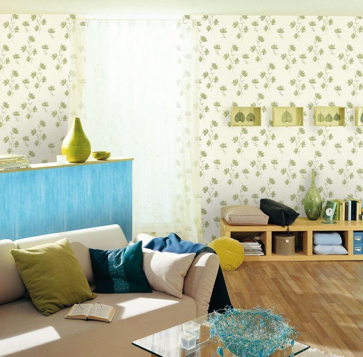 Empapelado - Hojas verdes - Papel de parede