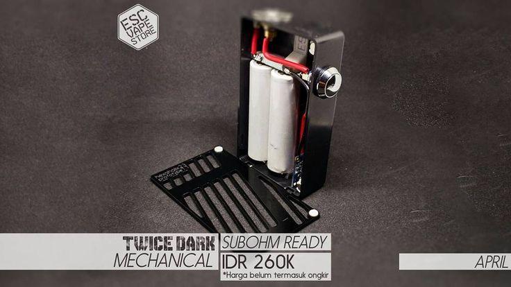 Harga : Rp. 260.000- (belum termasuk ongkir)  Spesifikasi: Box ABS Plastik  Cover Akrilik (Sistem Magnet) Dudukan 3D Printed (Bukan Akrilik) Switch Stainless Steel (tanpa mosfet) Konektor 510 22mm (pin pake per/spring loaded) Resistance 0.25ohm-1.0ohm (Sub Ohm ready) Slot Cas Micro USB (Bisa menggunakan charger standar BB/ hape Android dengan micro USB) Indikator LED (Merah = sedang di cas Biru = baterai penuh) BONUS Baterai 2 pcs 18650 2200mAh 37v 10A (merk sesuai stok) Ukuran 10cm x 6cm x…