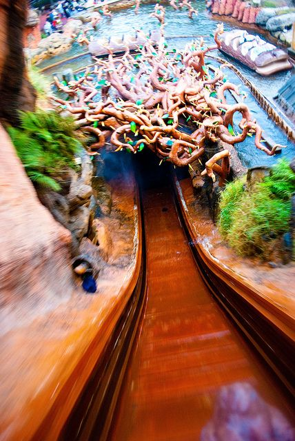 Splash mountain! I'm starting to love this ride! Warning: if you are planning to ride this ride multiple times wear clothes that you are comfortable getting COMPLETELY SOAKED in