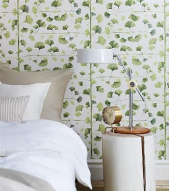 Another lovely take on ginko wallpaper, by Sandberg of Sweden.