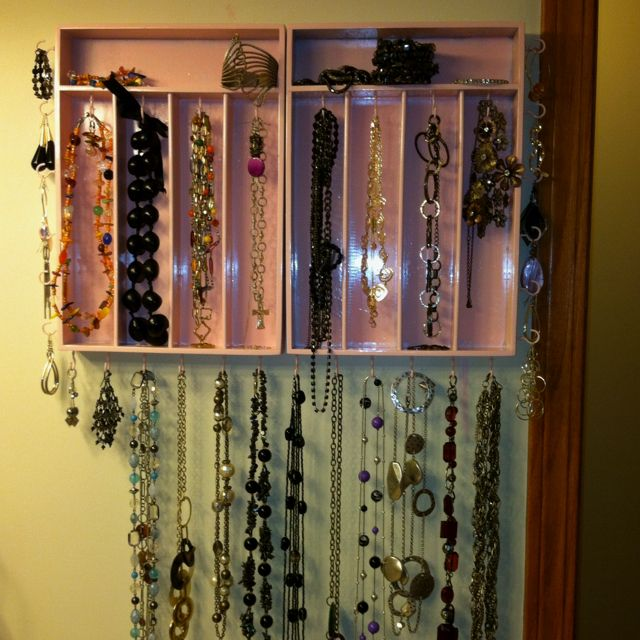 18 best Cutlery tray jewellery organiser project images on Pinterest