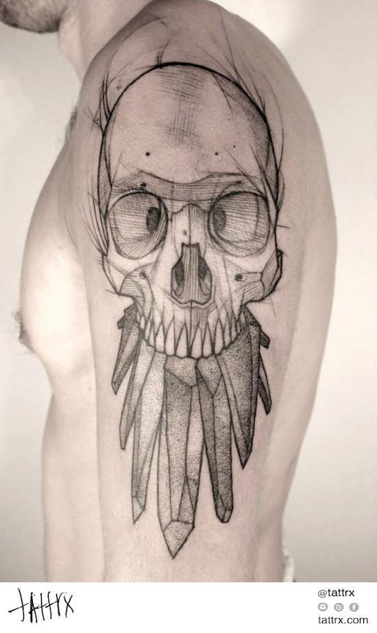 Sombras, trazo Jan Mráz - Crystal Skull