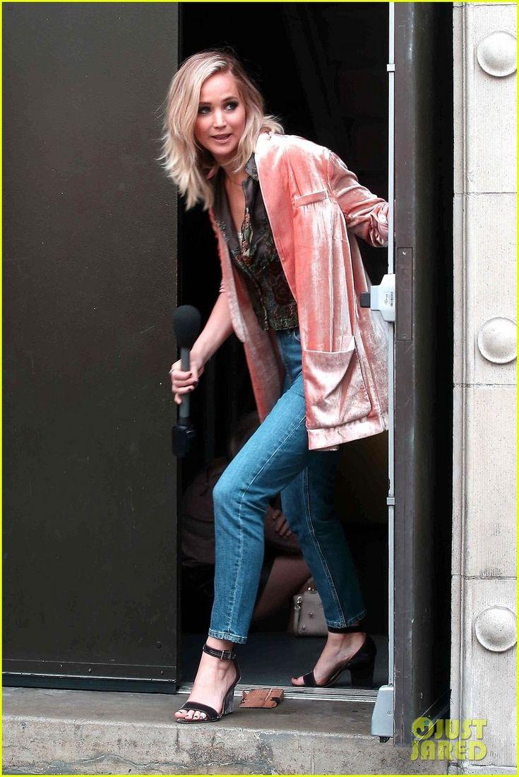 Pink crushed velvet! Jennifer Lawrence Hits the Streets for 'Jimmy Kimmel Live!' Segment | jennifer lawrence hits the streets for jimmy kimmel live segment 02 - Photo