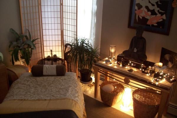 One room at The Healing Bridge. like the idea of using room dividers