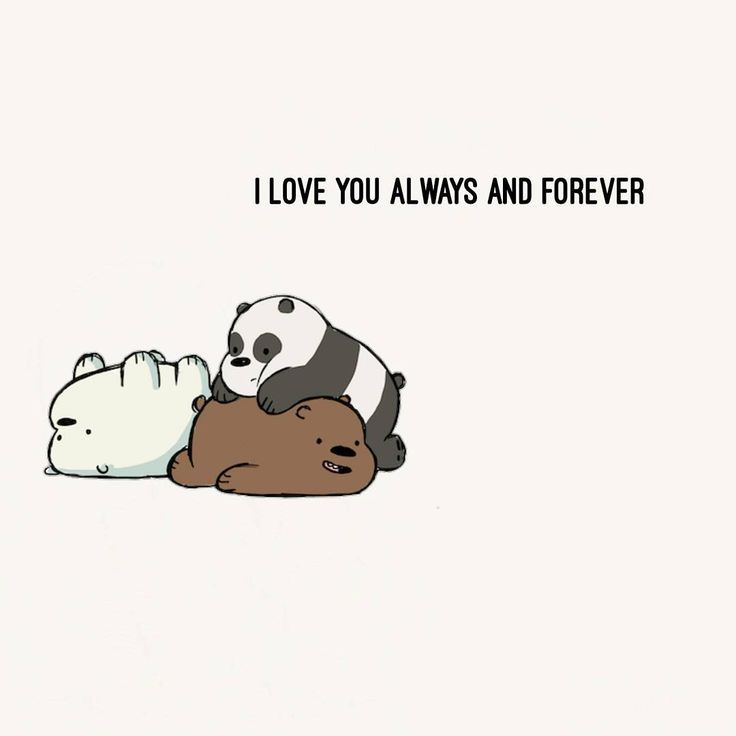 "3,636 Me gusta, 122 comentarios - We Bare Bears (@webarebears.official) en Instagram: ""Tag 2 people you love forever and always  #babybears #foreverandalways #love"""