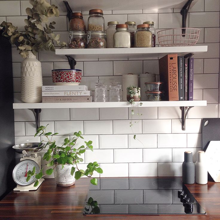 Kelly Love's bohemian London Home features open shelving in the Kitchen | west elm