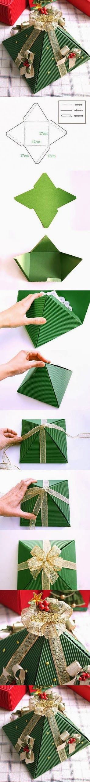 DIY : Pyramid Christmas Box | DIY & Crafts Tutorials