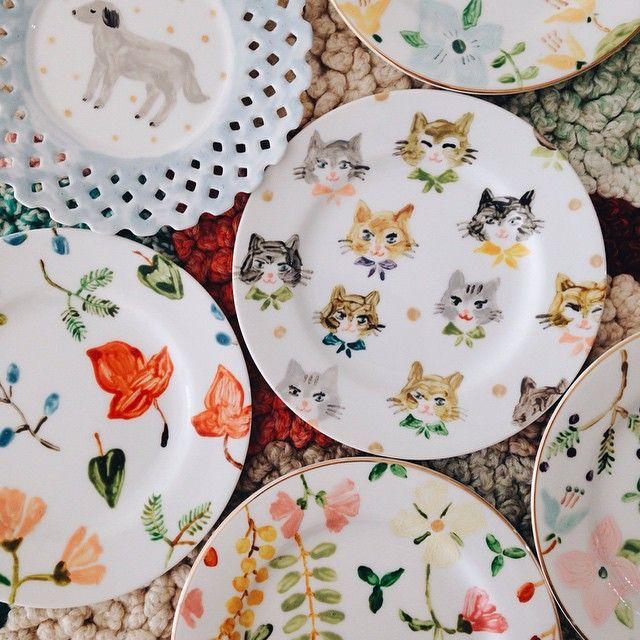 cute little plates