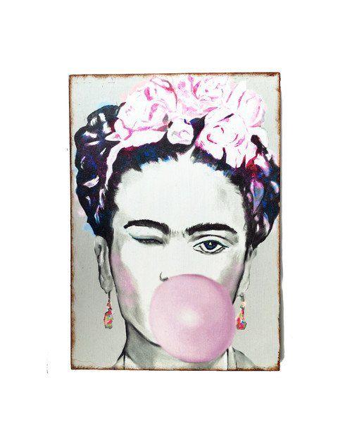 Collagen - Kunstdruck auf Holz Frida Kahlo - ein Designerstück von Art-istique bei DaWanda