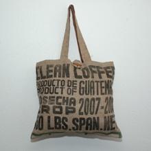 fair trade coffee bag purse!