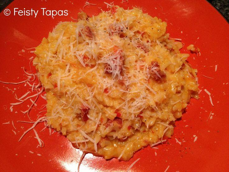 Thermomix Chorizo and red pepper risotto (recipe)