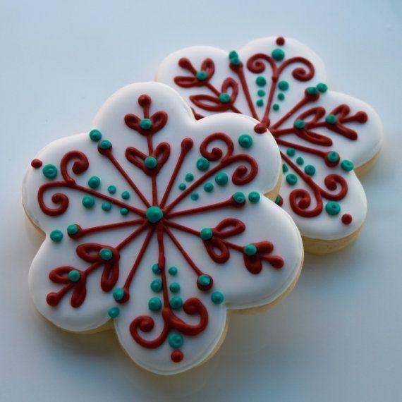 royal iced cookies   snowflakes