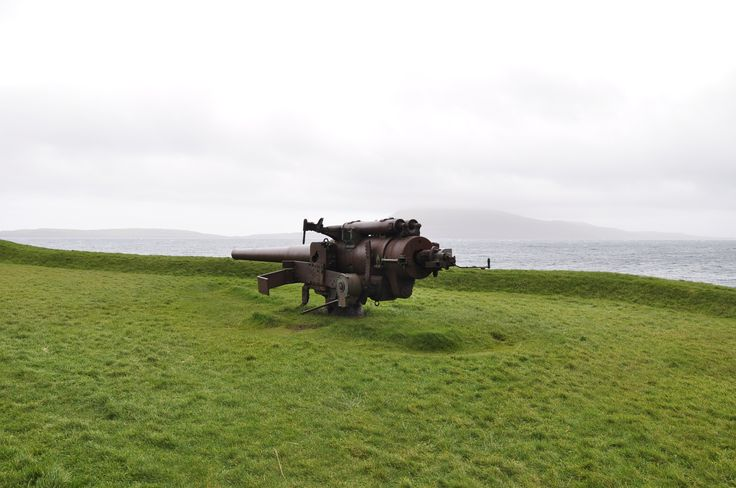 British gun at Skansin