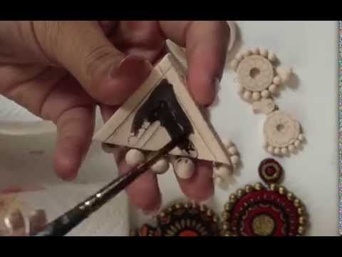 DIY | Learn how to make Terracotta jewellery making - part 1 - Pendant & Beads Making - YouTube