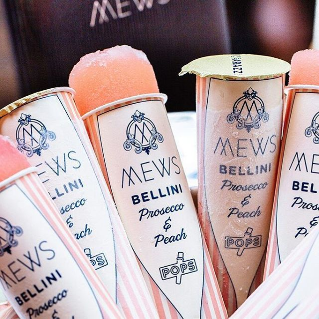 Sun is shining! Is it wrong that all I can think of are these prosecco ice pops from #mewsofmayfair