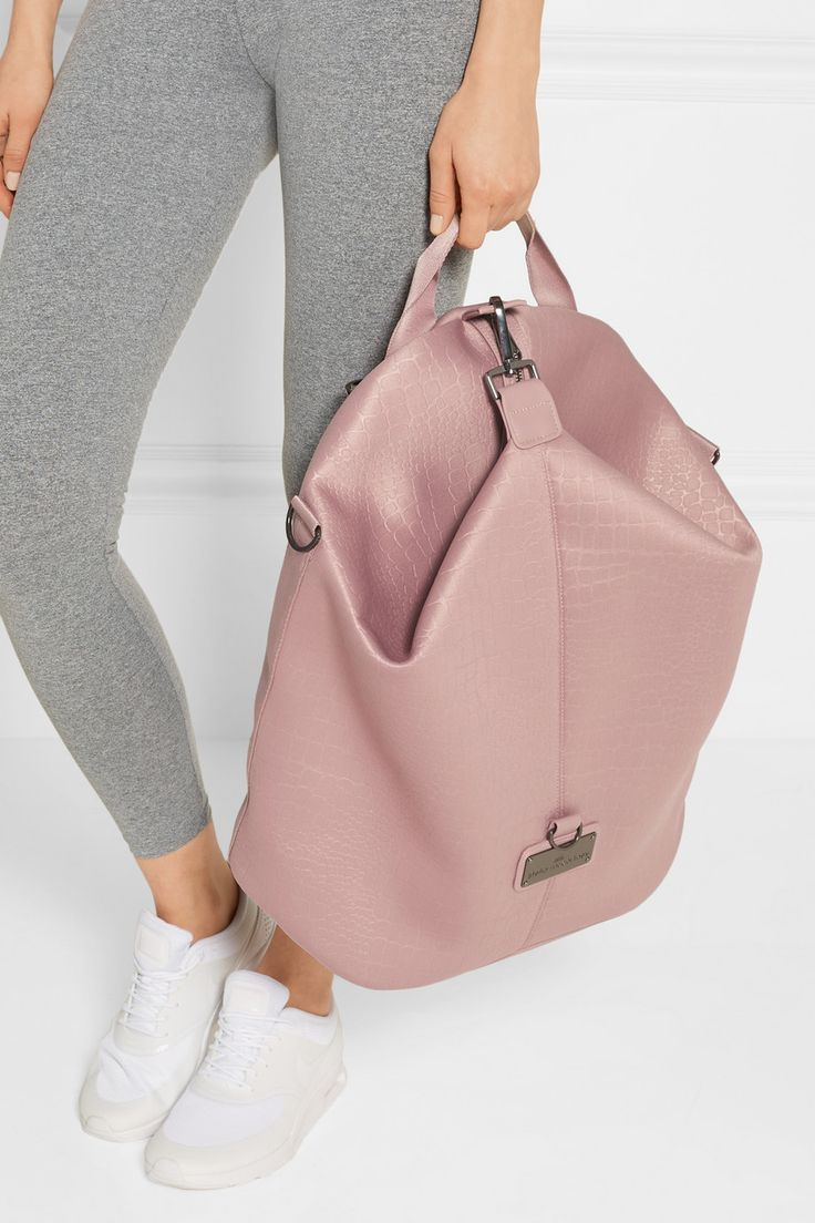 Adidas by Stella McCartney | Croc-effect neoprene backpack | NET-A-PORTER.COM