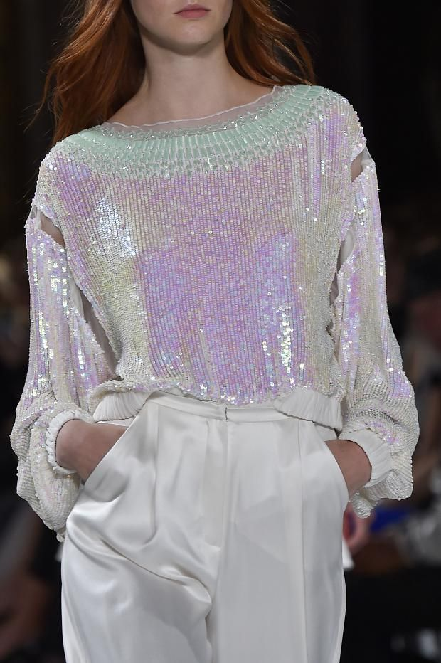 Not crazy about the style of blouse, but I love the texture and irredescent tones to it! So beautiful