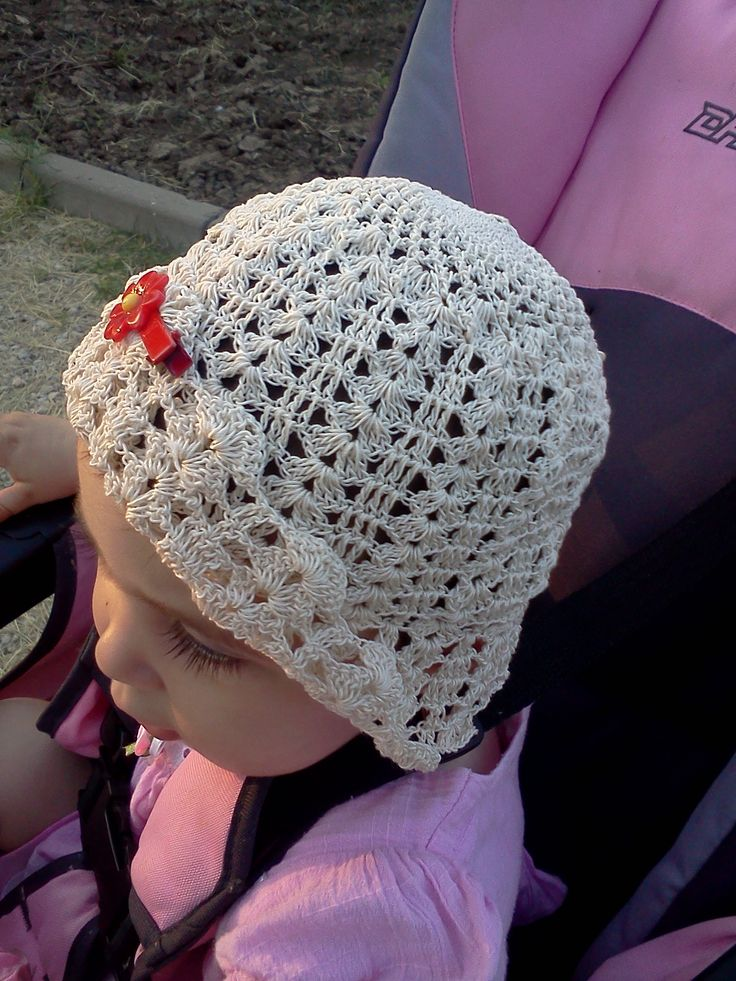 Baby crochet summer hat