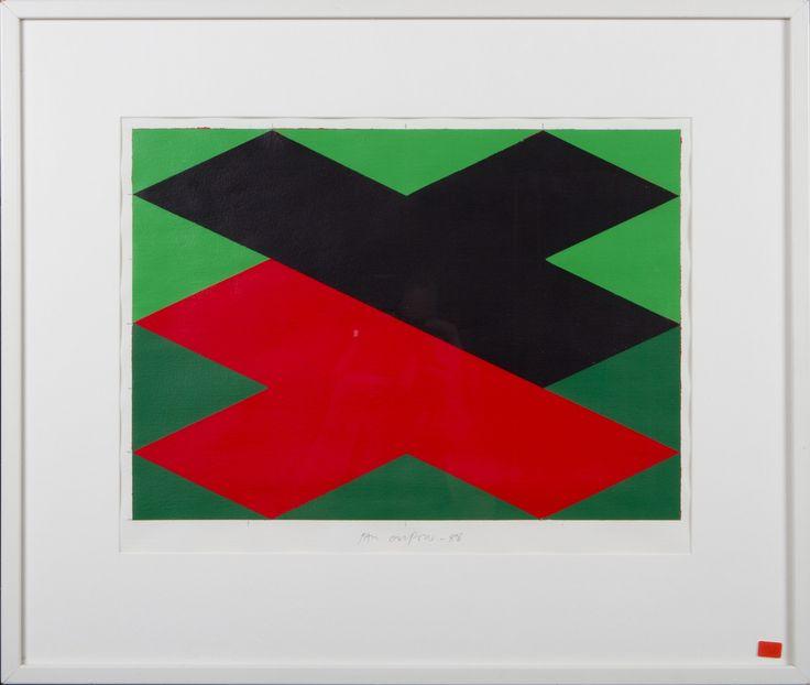 Paul Osipow, 1988, akryyli, 52x62 cm - Hagelstam A130