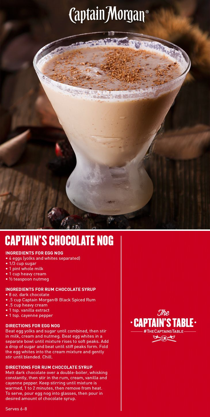 Classic, creamy Egg Nog with a surprise swirl of chocolate.