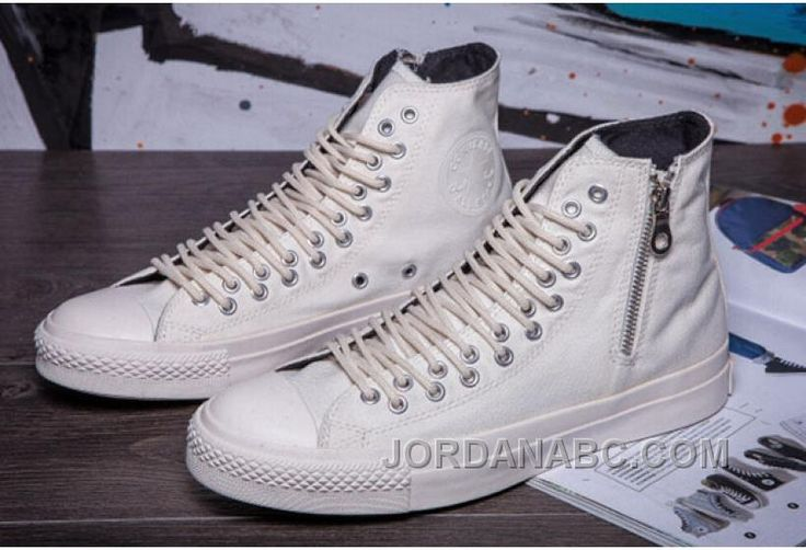 http://www.jordanabc.com/all-star-all-white-converse-two-row-eyelets-side-zip-ct-high-canvas.html ALL STAR ALL WHITE CONVERSE TWO ROW EYELETS SIDE ZIP CT HIGH CANVAS Only $59.00 , Free Shipping!