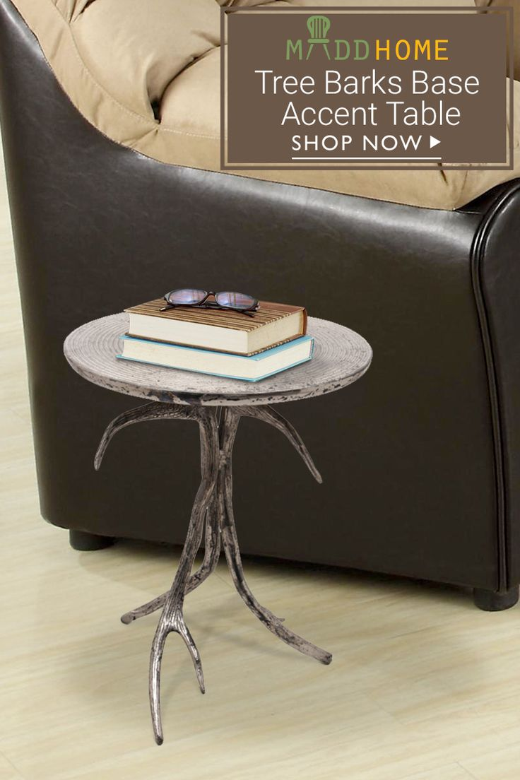 Tree Barks Base Accent Table