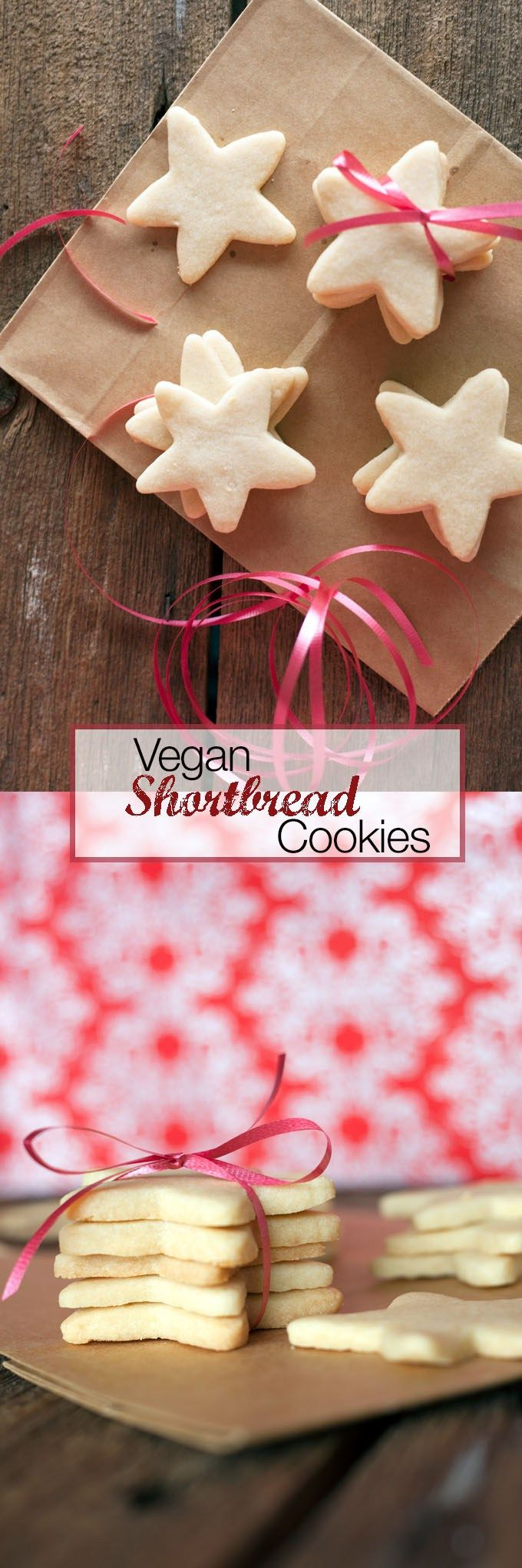 These 4 ingredient Vegan Shortbread cookies are quick, easy and just as good as the regular version!!!