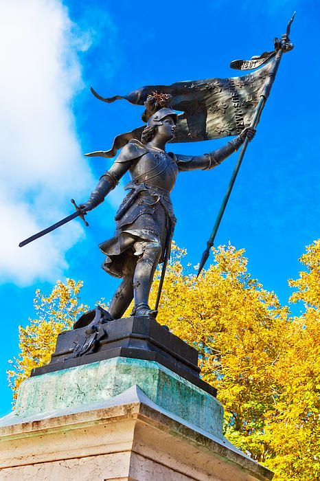 Statue of Joan of Arc located in Beaugency, France. For more information about this image go to: http://pixels.com/featured/triumphant-joan-of-arc-with-banner-kirk-strickland.html . To learn more about Joan of Arc, check out the new biography here: www.joanbook.com .
