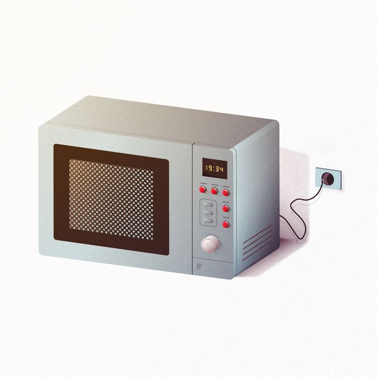 Microondas/Microwave Ilustración realizada por Bea P. Santana / Illustration by Bea P. Santana || Vector art