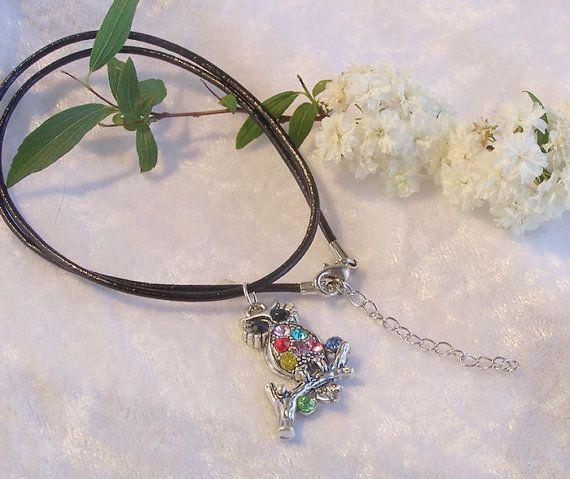 Owl Necklace Owl Pendant Owl Jewelry Bird by AstronomyGirlDesigns