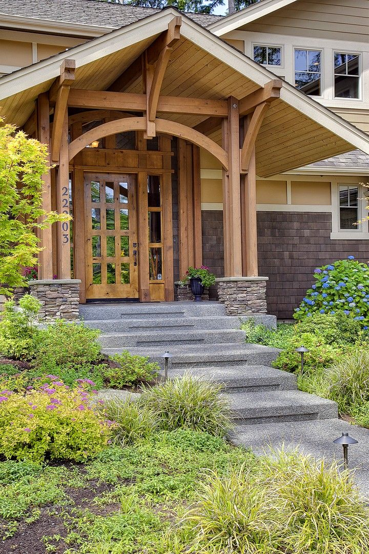 341 best craftsman style homes images on pinterest homes for Craftsman porch