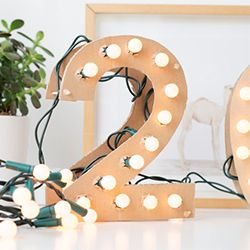 Make your own light up marquee style numbers and letters for any occasion! Super easy + you probably already have all of the bits!