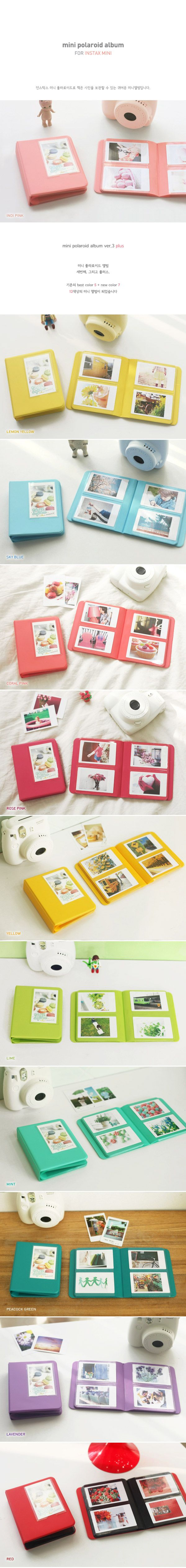 New Polaroid Photo Album for Fuji Instax Mini Ver 3 Plus Indi Pink | eBay $8.99