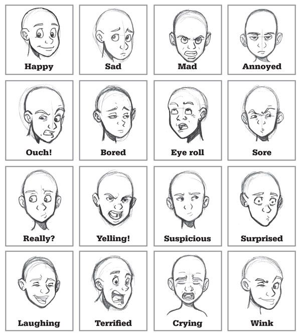 Emotional Lines In Art : Best ideas about face expressions on pinterest