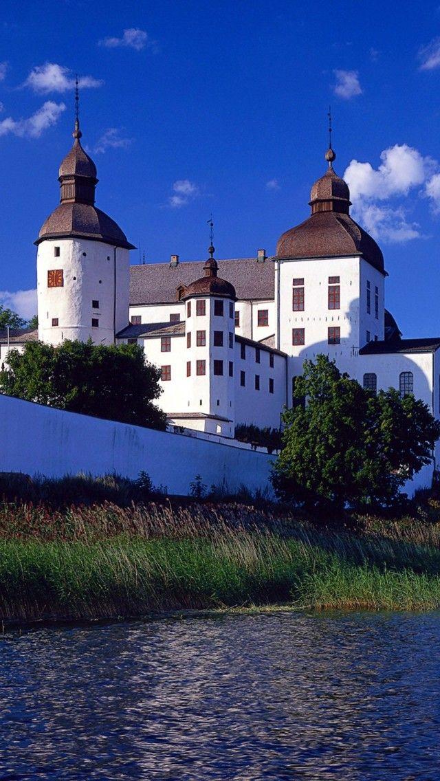 Läckö castle at lake Vänern in Västergötland Sweden