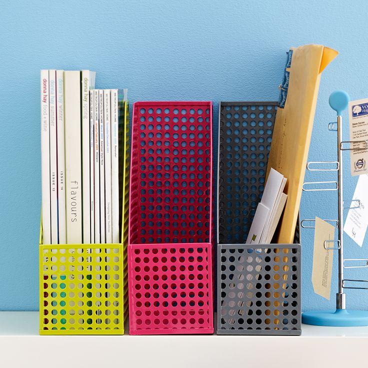 Edison Magazine File in Grey | Home Office Storage | Homearama.co.uk