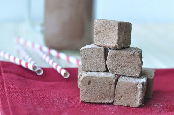 Homemade Chocolate Cinnamon Marshmallows  My perfect night is with Hot Cocoa and marshmallows in front of a roaring fire cuddled into my Husband's arms!