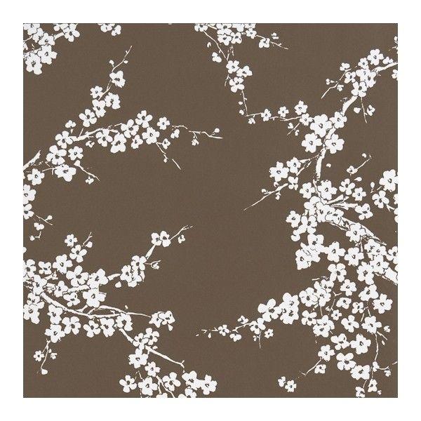 Gaston y Daniela Primavera Blossom Wallpaper ($125) ❤ liked on Polyvore featuring home, home decor, wallpaper, backgrounds, white pattern wallpaper, flower wallpaper, cherry blossom wallpaper, white wallpaper and sakura wallpaper
