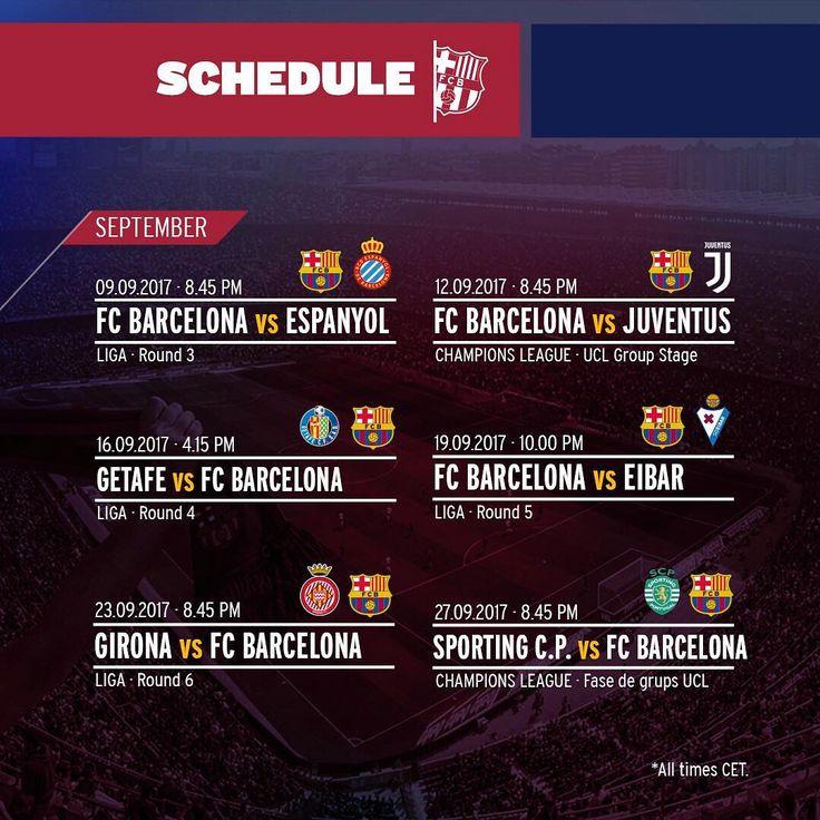 👋 September! This is our match schedule for this month 📆 ¡👋 Septiembre!  Este es nuestro calendario de partidos para este mes 📆 👋 Setembre! Aquest és el nostre calendari de partits per a aquest mes 📆