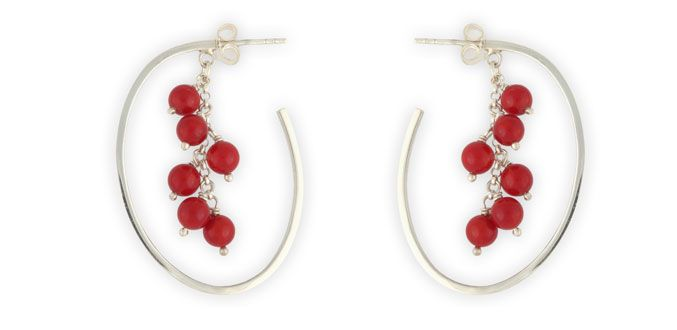 Order it here http://goo.gl/ec5RaF Cherry Blossom - Handmade Silver Earrings Material: Silver 925, Coral Dimension:L : 4.0 cm x W 3.0 cm Weight:7.5 gram Price:$ 31.50 In Stock : 5 pairs