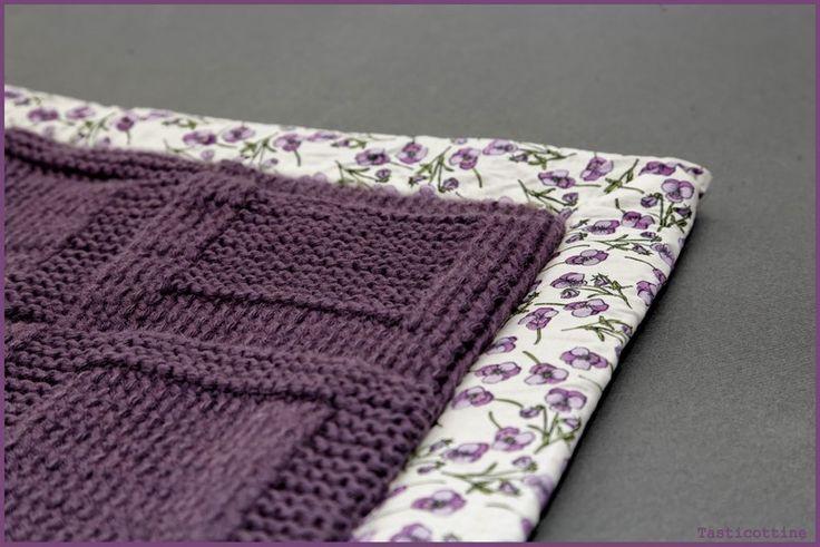 Apprendre a tricoter une couverture: tuto