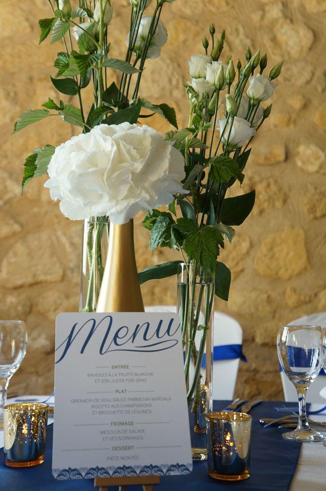 Mariage Romantique Vert et Bleu Royal - Dessine-moi une étoile (Event Design) - Aude Rose (Fleurs)