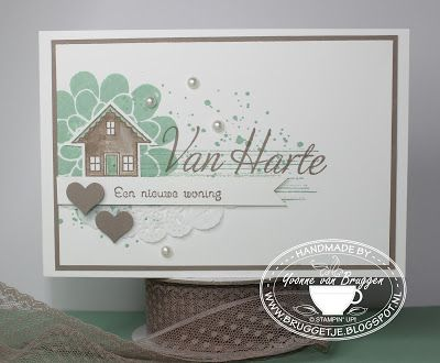 Yvonne is Stampin´ and Scrapping: Stampin´ Up! Happy new home card