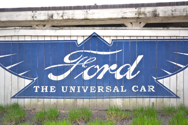 Vintage Ford Sign, Detroit