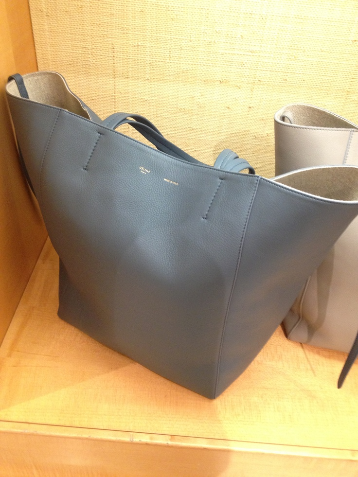 Anyone else \u0026quot;need\u0026quot; this bag? Celine cabas in this seal grey napa ...